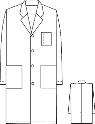 "Cherokee Unisex Lab Coat 40"" - 1346 by Amegamall's NRI Uniforms"